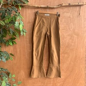 Rachel Comey high rise crop flare tan pants
